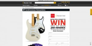 Musician's Friend Jimi Hendrix Fender Stratocaster Sweepstakes