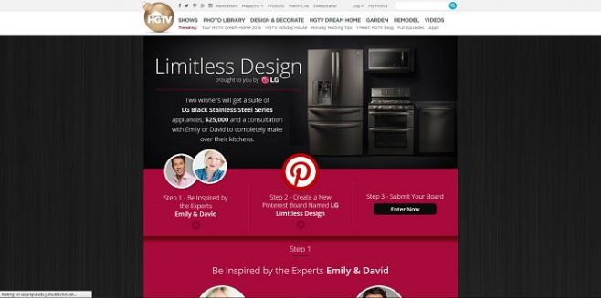 HGTV.com/LGContest - HGTV And LG Limitless Design Contest