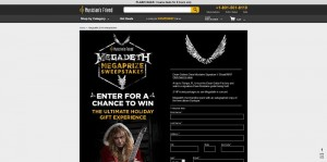 Musician's Friend Dean Guitars Megadeth Megaprize Sweepstakes