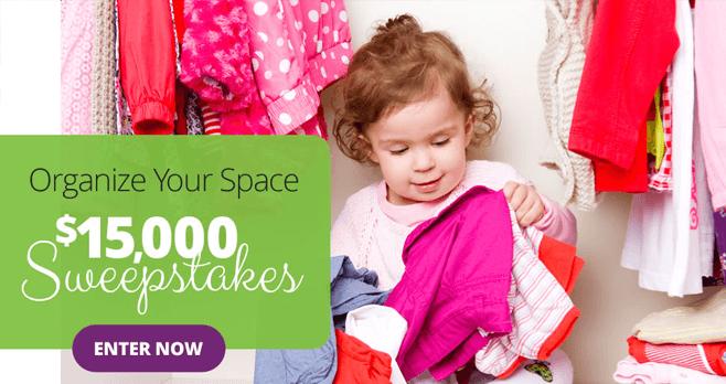 Parents Organize Your Space $15K Sweeps (Parents.com/15kSweeps)