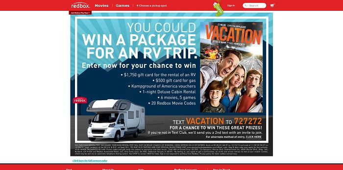 Redbox Vacation Sweepstakes