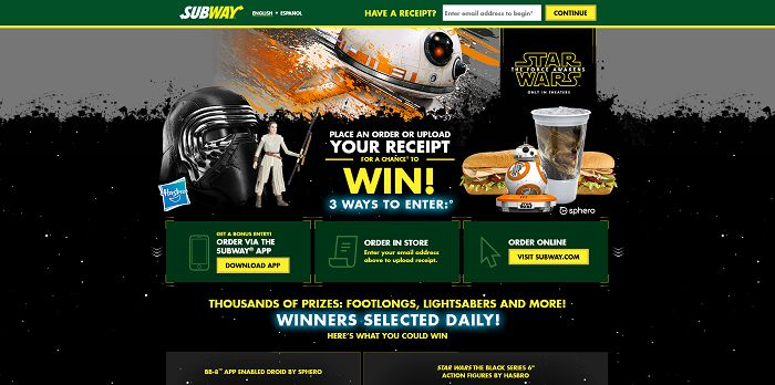 Subway.com The Fans Are Strong Here Promotion