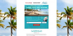 Choose Your Own Vacation Sweepstakes