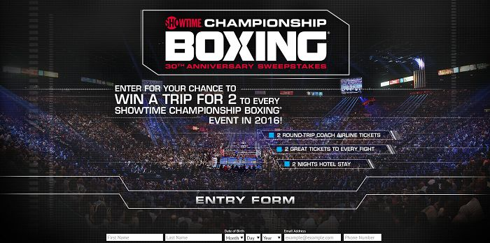ShoChampSweeps.com - Showtime Championship Boxing 30th Anniversary Sweepstakes