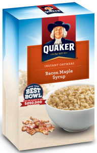 Bacon oatmeal flavor