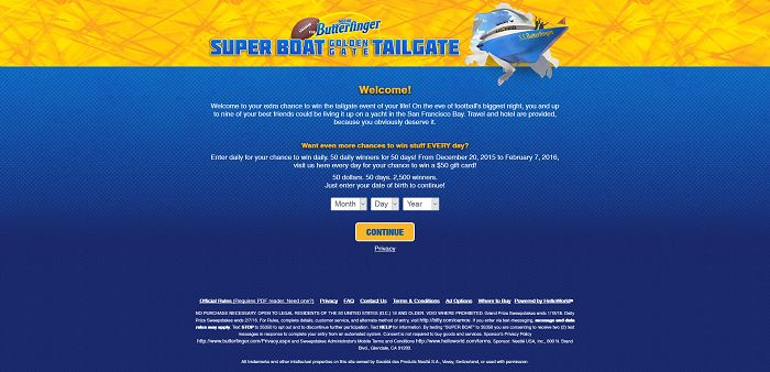 Super Boat Golden Gate Tailgate Sweepstakes