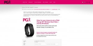 PGX Fitbit Charge HR Giveaway