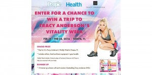 PEOPLE Get Fit! Tracy Anderson Vitality Week Sweepstakes