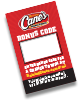 Raising Cane's Peel The Love bonus code game piece