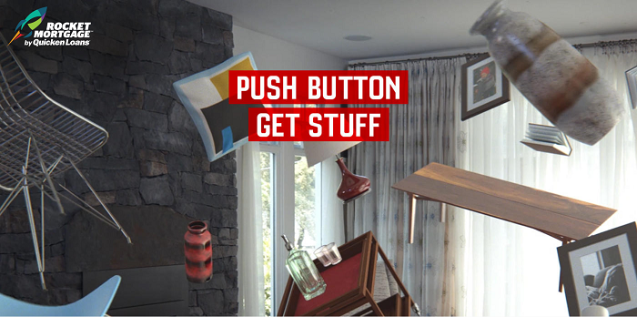 PushButtonGetStuff.com - Quicken Loans Rocket Mortgage Push Button, Get Stuff Sweepstakes