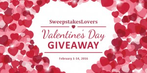 Sweepstakes Lovers Valentine's Day Giveaway
