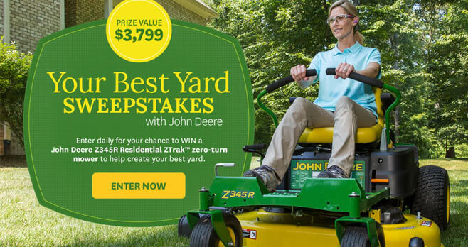 BHG Your Best Backyard Sweepstakes 2017 (BHG.com/DeereGiveaway)