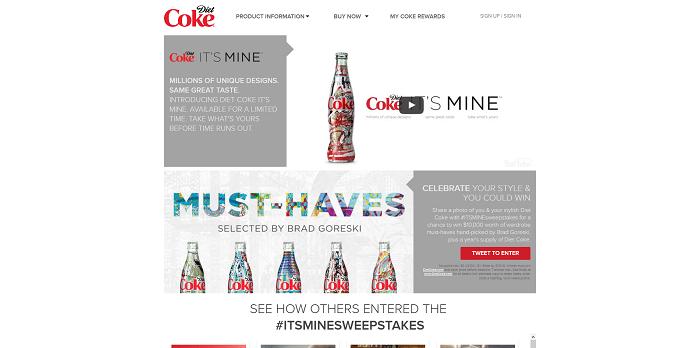 Diet Coke #ItsMineSweepstakes