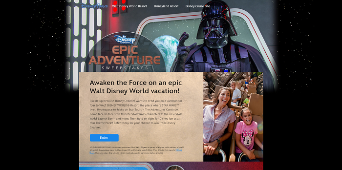 Disney.com/EpicAdventureSweeps - Disney Channel Epic Adventure Sweepstakes