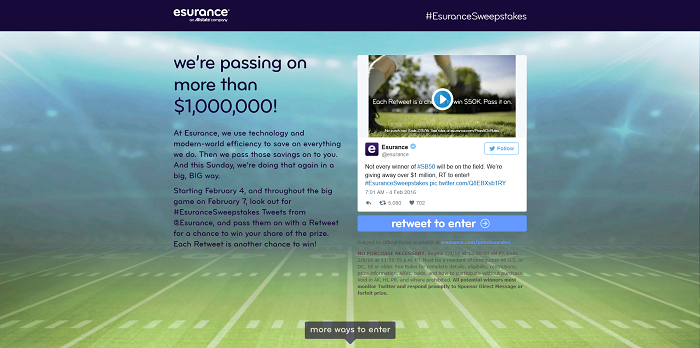 esurance.com/PassItOn - Esurance Pass It On Sweepstakes