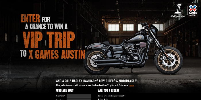 Harley-Davidson X Games Sweepstakes