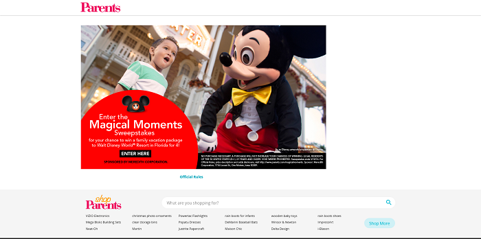Parents.com Magical Moments Sweepstakes