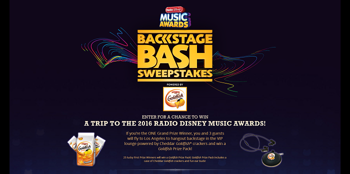 RDMABackstageBashSweeps.com - 2016 Radio Disney Music Awards Backstage Bash Sweepstakes