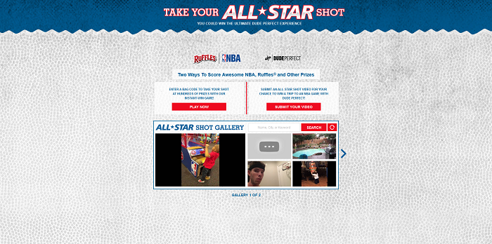 Ruffles.com Take Your All-Star Shot Instant Win Game And Contest