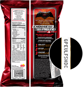 doritos batman v superman bag code