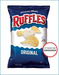 ruffles bag code