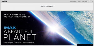 A Beautiful Planet IMAX Sweepstakes
