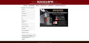 Bigelow Tea & ShopRite Hot Tea Month Sweepstakes