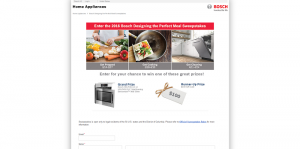 Bosch Designing the Perfect Meal Sweepstakes