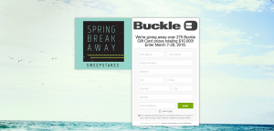 Buckle Spring Break Away Sweepstakes