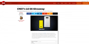 CNET's LG G5 Giveaway