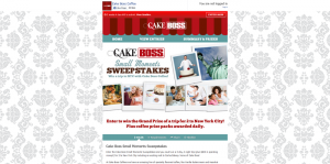 Cake Boss Small Moments Sweepstakes