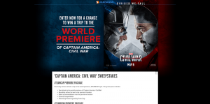 Fandango Captain America: Civil War Sweepstakes