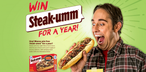 Steak-Umm For 1 Year Giveaway