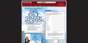 Cinemark Big Fat Greek Vacation Sweepstakes