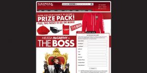 Cinemark THE BOSS Sweepstakes