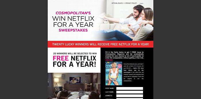 Cosmopolitan Netflix Sweepstakes