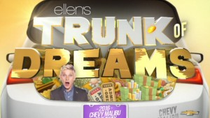 Ellentube.com/Malibu: Ellen's Trunk of Dreams 2016 Chevy Malibu Giveaway