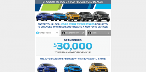 FordEventSweepstakes.com: Ford Event Sweepstakes 2016