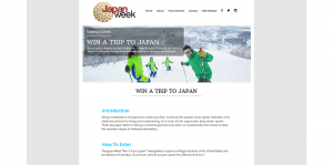 Japan Week Sweepstakes 2016