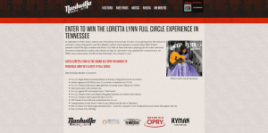 Loretta Lynn Full Circle Experience in Tennessee Sweepstakes