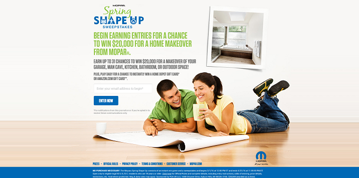 Mopar Spring Shape Up Sweepstakes