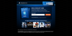 PlayStation Store Sweepstakes