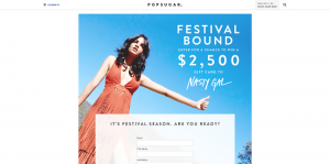 PopSugar $2,500 Nasty Gal Sweepstakes