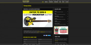 Rockstar & Car Guitar Sweepstakes