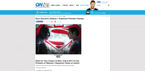 Ryan Seacrest Batman v Superman Dawn of Justice Premiere Sweepstakes