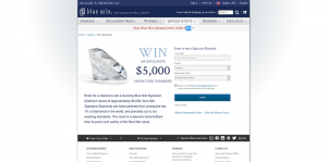 Blue Nile Signature Diamond Sweepstakes