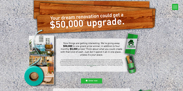 TDRollingRenovation.com - TD Rolling Renovation Sweepstakes