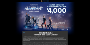 Fandango's The Divergent Series: Allegiant Sweepstakes