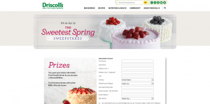 Driscoll's The Sweetest Spring Sweepstakes