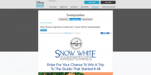 Walt Disney Signature Collection: Snow White Sweepstakes